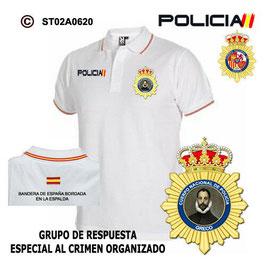 POLOS POLICIA NACIONAL: CNP - GRUPO RESPUESTA RAPIDA CRIMEN ORGANIZADOS / 2 MOD