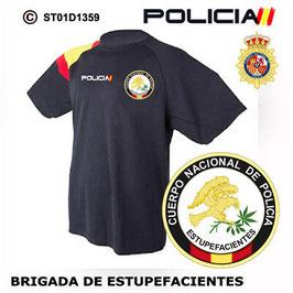 CAMISETAS TECNICAS POLICIA NACIONAL: CNP - BRIGADA DE ESTUPEFACIENTES ST01D1359