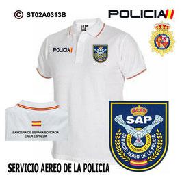 POLOS POLICIA NACIONAL: CNP - SAP / SERVICIO AEREO DE LA POLICIA / ANTIGUO