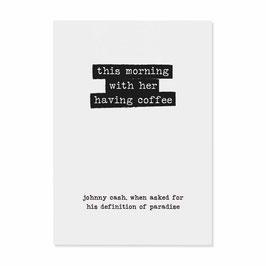 """Postkarte """"Johnny Cash"""""""