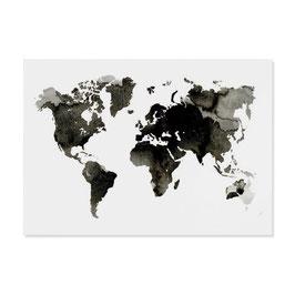 """Postkarte """"Weltkarte"""""""