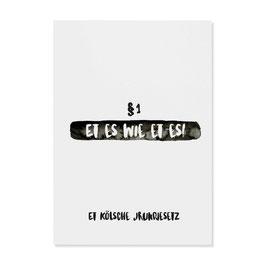 """Postkarte """"Jrundjesetz"""""""