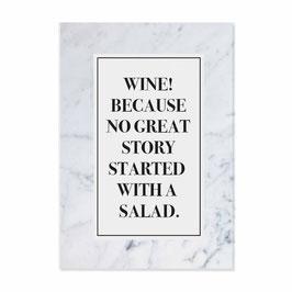 """Postkarte """"Wine"""""""