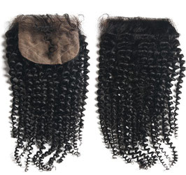 Malaysian Silk Base Lace Closure - Kinky Curly