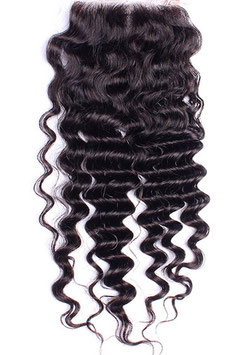 Peruvian Full Lace Hair Closure - Deep Wave