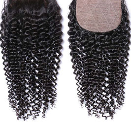 Peruvian Silk Base Lace Closure - Kinky Curly