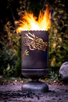 Feuerkorb DRACHE chinesisch