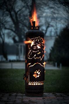 Feuerstelle SEITLICHER WOLF