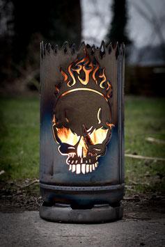 kleine Feuertonne Skull Flames
