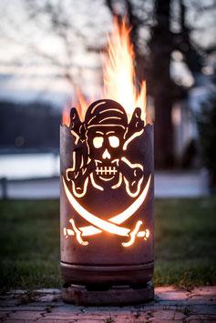 kleine Feuertonne Pirat