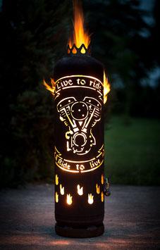 Feuerstelle mit Tür Live to ride
