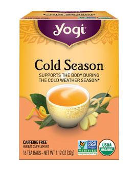Yogi tea Cold Season orgánico - Caja x 16 Filtrantes.