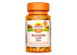 5-HTP Hidroxitriptofano (de griffonia simplicifolia)  x 30 cápsulas x 200 mg (Vegetariano, Gluten Free, Sin Lactosa)