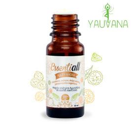 Essentiall Aquí y Ahora (Mezcla sinérgica Ayurvédica de aceites esenciales armonizada con cuencos) - Frasco x 10 ml