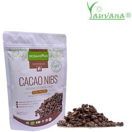 Cacao Nibs Orgánico endulzado con Yacón - Bolsa x 200 gramos
