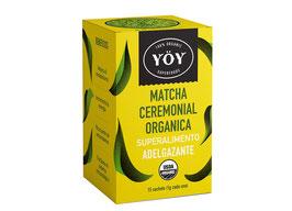 Te Matcha Ceremonial Orgánico Polvo (15 tazas) - Caja x 15 sobres x 1 g