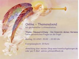 ONLINE Themenabend mit Lichtmeditation - Aufzeichnung Januar 2021