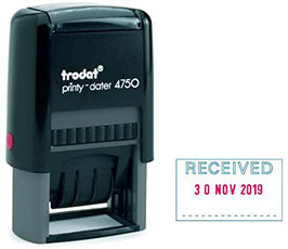 Trodat Printy Dater 4750 Custom Rubber Stamp