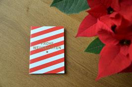 Rotweissgestreifte, frohe Weihnachten • Klappkarte + Kuvert