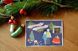 Weihnachten mit Gin Tonic • Klappkarte + Kuvert