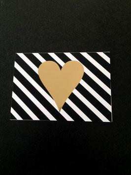 Goldiges Herz • Klappkarte + Kuvert