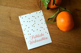 Fröhliche Weihnachten • Klappkarte + Kuvert