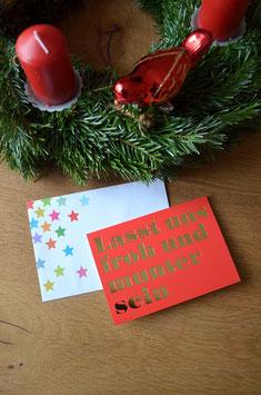 Lasst uns froh und munter sein • Klappkarte + Kuvert