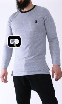 Langarm T-Shirt Farbe Hellgrau