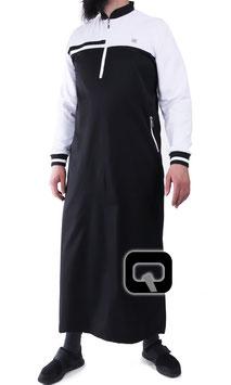 Qabail long classique Qamis Farbe Schwarz