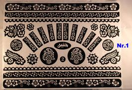 Henna Schablone Sticker