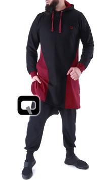 Qamis Court Versus Farbe Schwarz - Rot Oberteil