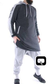 Qamis Be Hood Oberteil Farbe Dunkel Grau