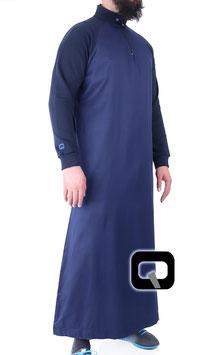 Qamis Oberteil - Gewand Long Jogging Manche Farbe Blaue Nacht