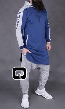 Qamis Be Hood Oberteil Farbe Blau