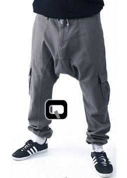 Harem Hose Cargo Farbe Grau