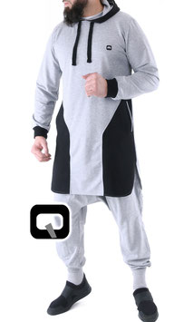 Qamis Court Versus Farbe Grau Oberteil
