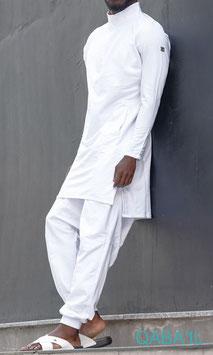Qamis Court Boss Farbe Weiß Oberteil Langarm