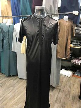 Qamis Al Carpal Farbe Schwarz Gewand - Oberteil Kurzärmerlig