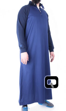 Qamis Oberteil - Gewand Long Jogging Manche Farbe Blau