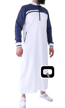 Qabail Oberteil long classique Qamis Farbe Blau Weiß