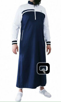 Qabail Oberteil long classique Qamis Farbe Blau