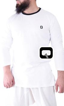 Langarm T-Shirt Farbe Weiß