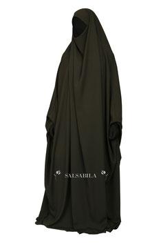 Jilbab Saudi Modell  Einteiler Farbe Grün Kleid