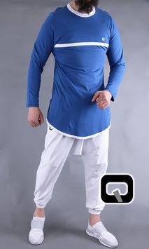 Langarm T-Shirt mit Streifen Farbe Blau