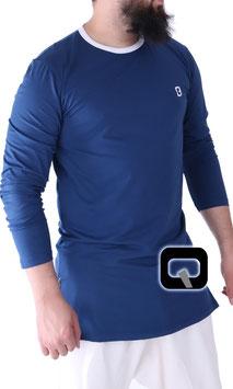 Langarm T-Shirt Farbe Blau