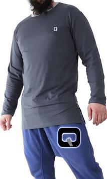 Langarm T-Shirt Farbe Dunkelgrau
