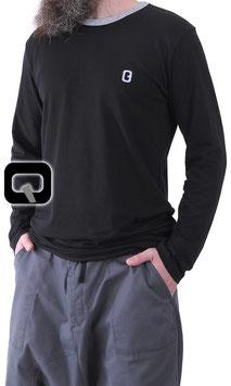 Langarm T-Shirt Farbe Schwarz