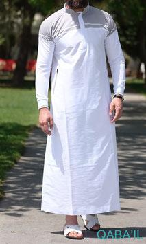 Qabail long classique Qamis II Farbe Grau - Weiß
