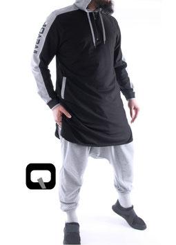 Qamis Be Hood Oberteil Farbe Schwarz
