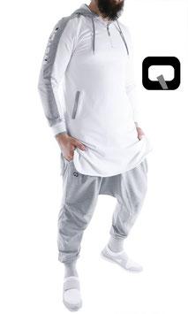 Qamis Be Hood Oberteil Farbe Weiß